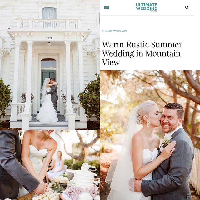 "Thank you to @ultimatewedmag for the awesome feature on Jennifer and Steven's beautiful day!!! Link in bio ⬆️ P.S. totally loving how all of our features have had the word ""warm"" in the title! That is one of our favorite pieces of brand consistency :) 🏠: The Rengstorff House 🎂: @jenscakesofwillowglen 📸: @emilyjeanimages #emilyjeanimages"