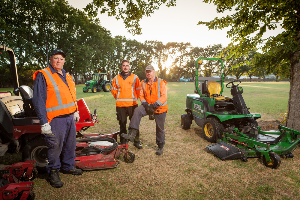 Mower men