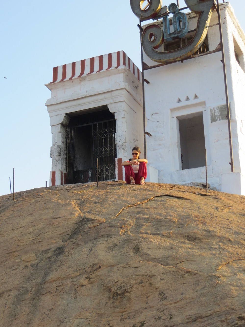 The Hindu temple that marked the halfway point on the trek up the mountain