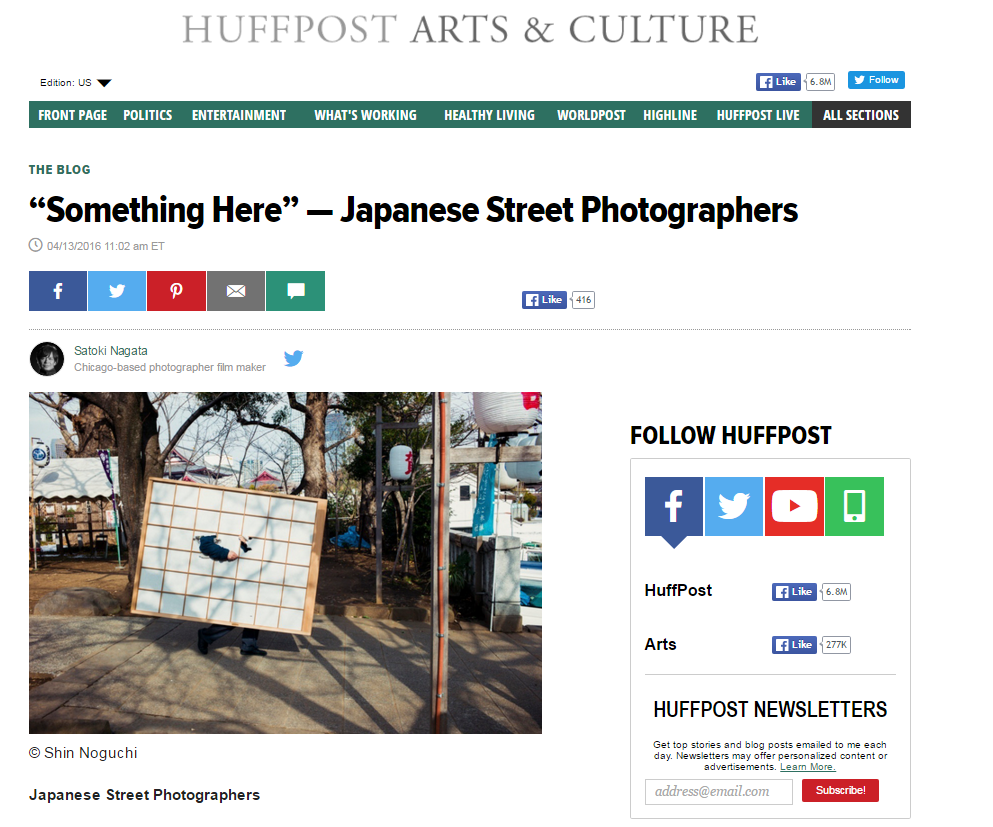 "2016 : Huffington Post - """"Something Here"" — Japanese Street Photographers"""