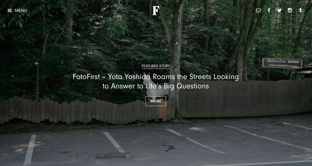 "2016 : Fotografia Magazine - ""Yota Yoshida Roams the Streets Looking to Answer to Life's Big Questions"""