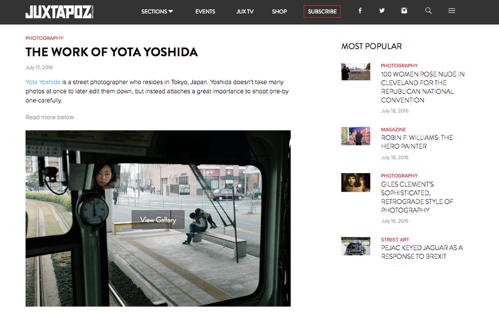 "2016 : Juxtapoz Magazine - ""The Work of Yota Yoshida"""