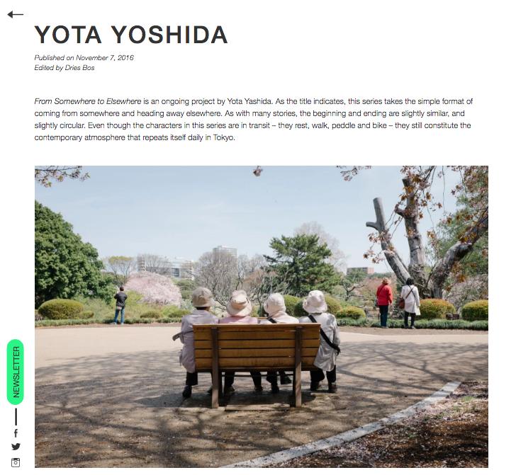 """2016 : Close My Eyes - """"from somewhere, to elsewhere - Yota Yoshida"""""""