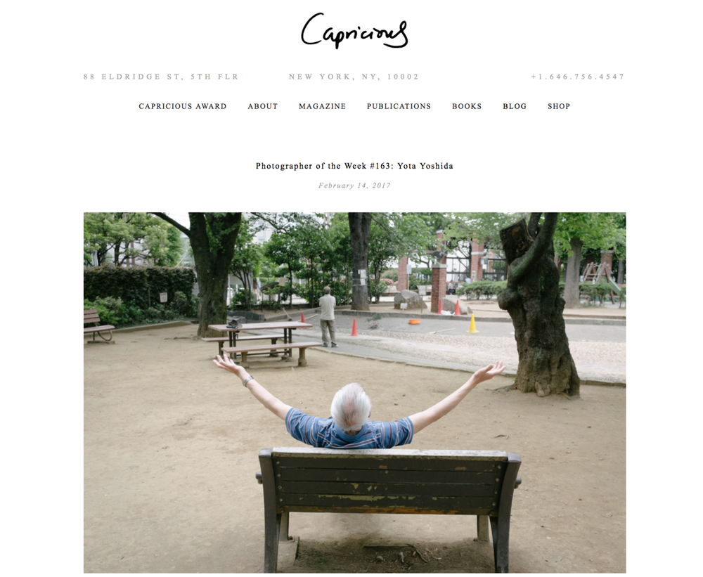 "2017 : Capricious - ""Photographer of the Week #163: Yota Yoshida"""