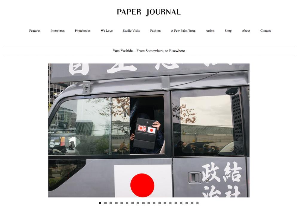 "2017 : Paper Journal - ""Yota Yoshida - from somewhere, to elsewhere"""