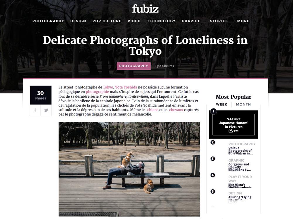 "2017 : Fubiz Media - ""Delicate Photographs of Loneliness in Tokyo"""