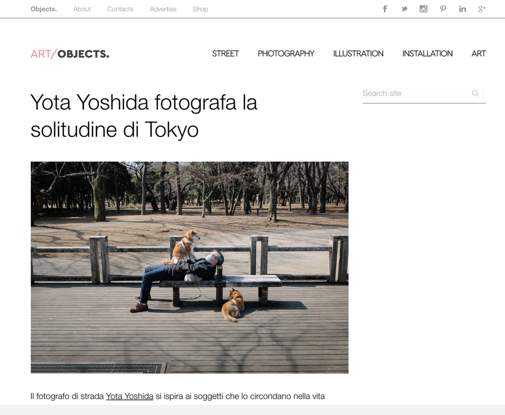 "2017 : Objects. - ""Yota Yoshida fotografa la solitudine di Tokyo"""