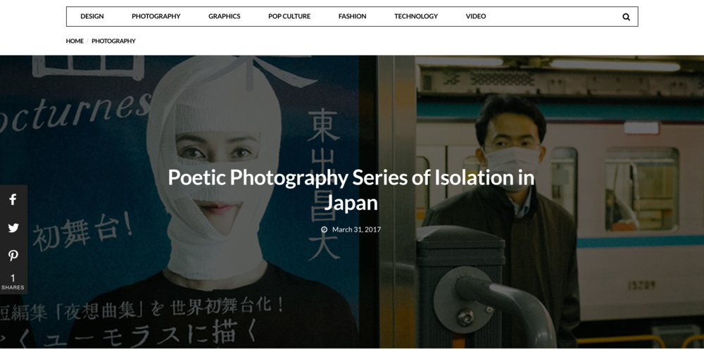 "2017 : Infloz - ""Poetic Photography Series of Isolation in Japan"""