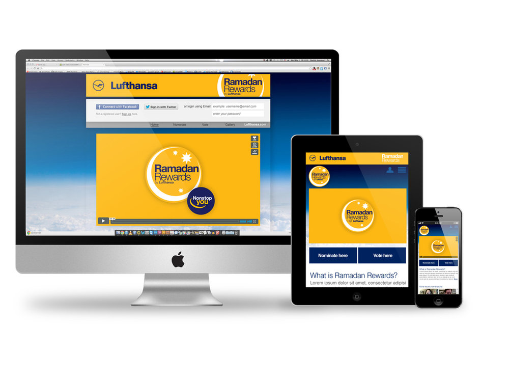 "Lufthansa Rewards -  By creating a fully-digital campaign we called ""Lufthansa Ramadan Rewards,"" we successfully reached the large international target group desired by utilizing strategic Social Engine Marketing, Search Engine Optimization, targeted social media management, and online advertising."