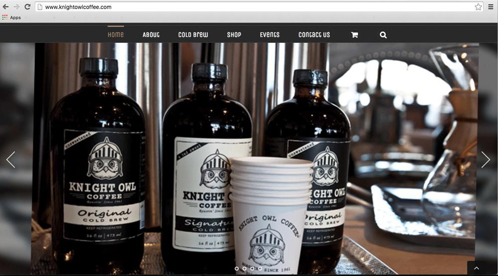 Photos for Knight Owl Coffee's website.   www.knightowlcoffee.com