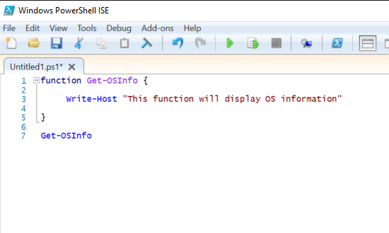 Powershell getting started using the ise and creating functions go ahead and run the full script again maxwellsz