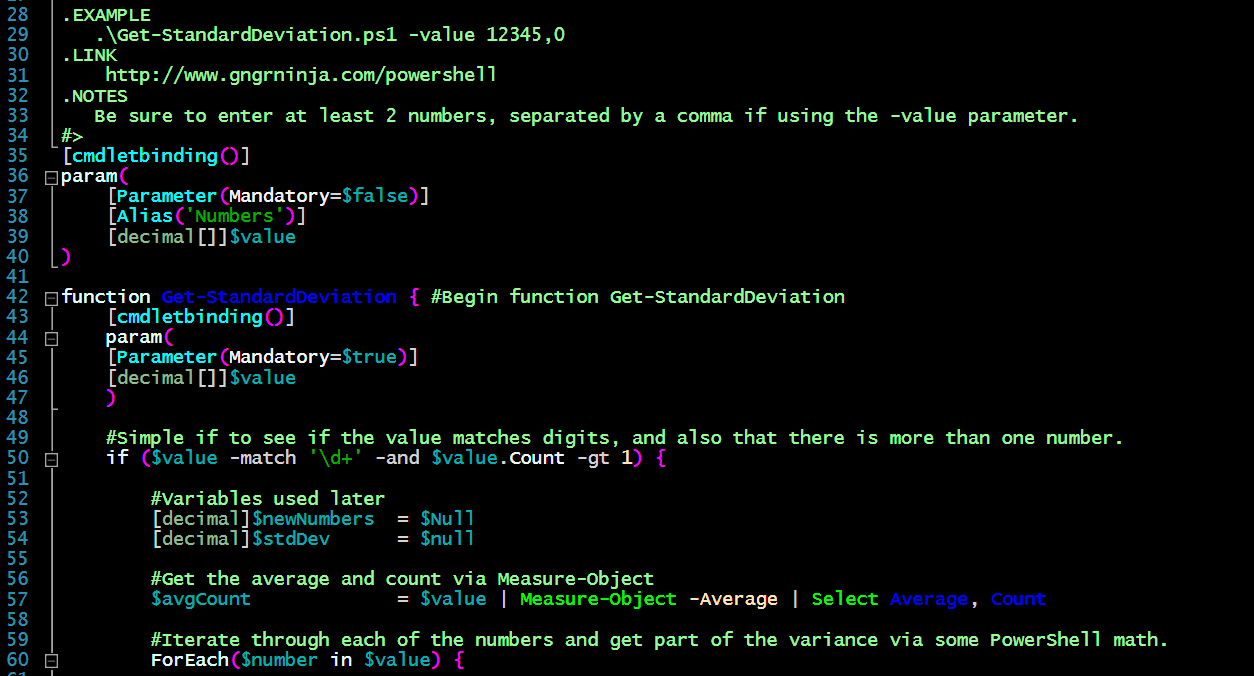 PowerShell: Calculating Standard Deviation — The Ginger Ninja