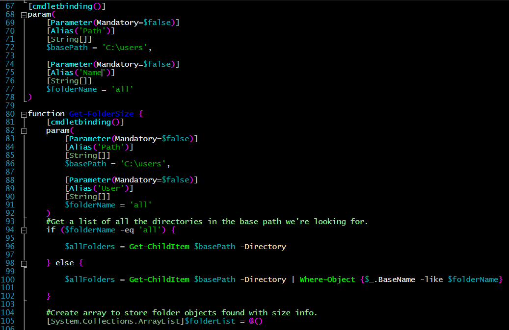 PowerShell: Calculating Folder Sizes — The Ginger Ninja