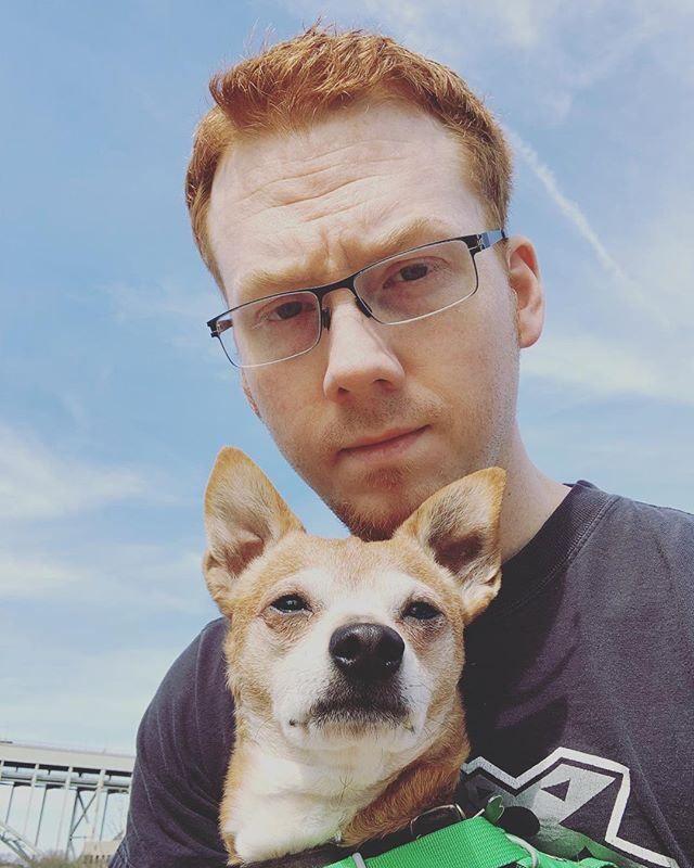 Buckley and I.🔥🐶 #dog #ginger #portland