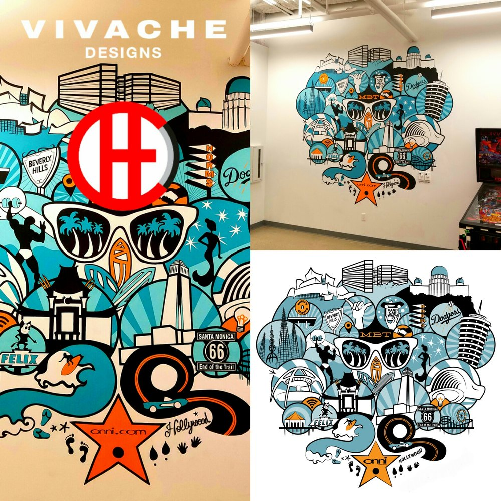 Mural Painter Vivache Designs Custom Mural Painting