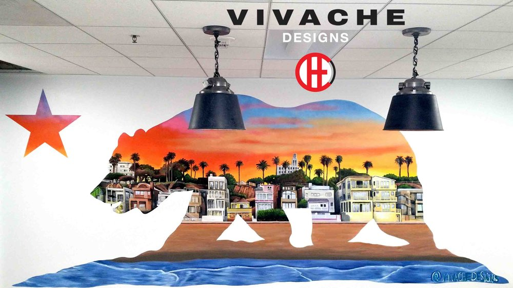 Vivache Designs California Bear Los Angeles Sunset