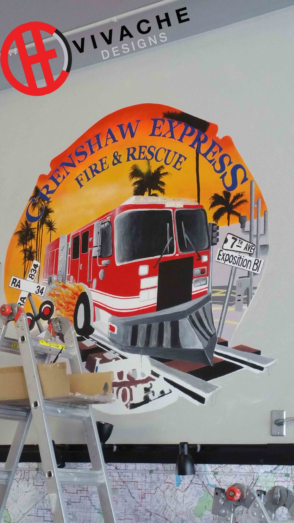 Vivache Designs Painted Wall Murals LAFD Fire Station Mural copy.jpg