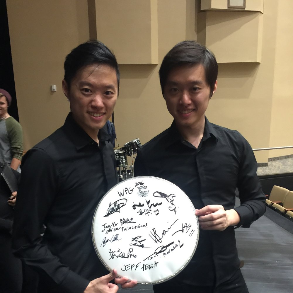 Twincussion and Signature drumhead