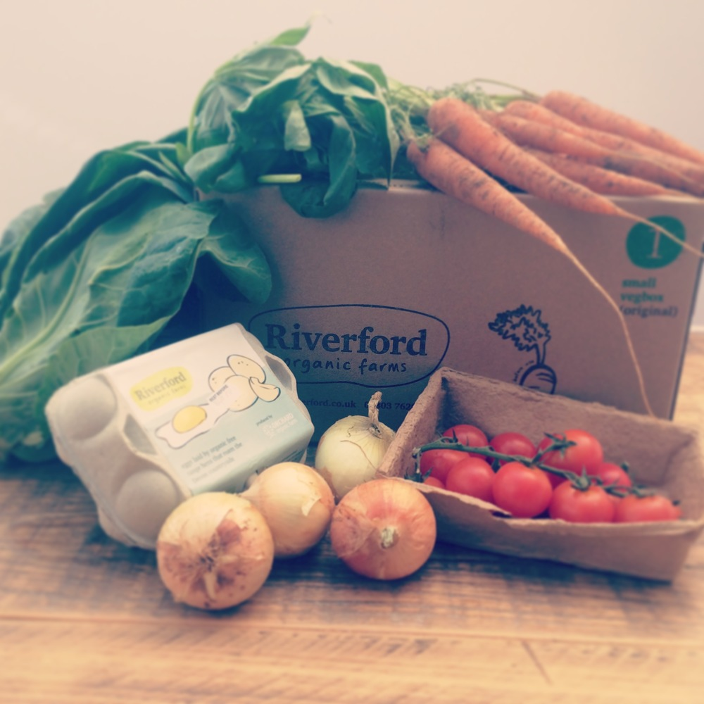 My organic Riverfood veg box, delivery to my door every week