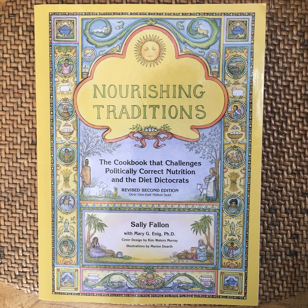 Nourishing traditions cookbook in The Preggers Kitchen shop