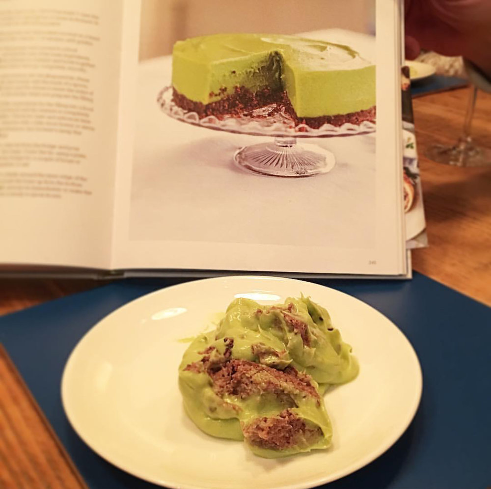Avocado lime cheesecake.  Nailed it.  Totally nailed it.