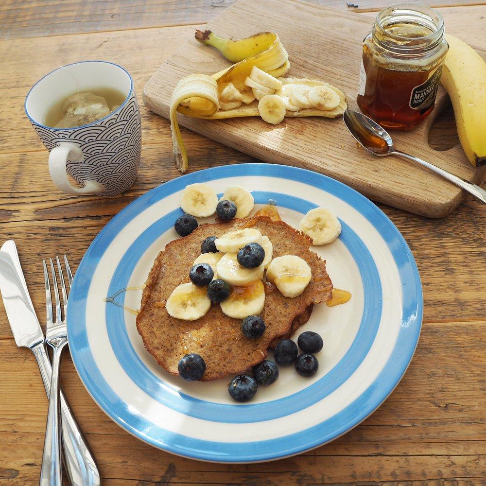 Gluten free healthy fertility pancake recipe