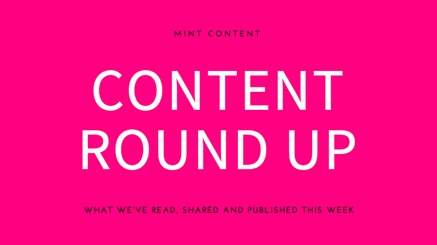 Header image Mint Content content writing round up