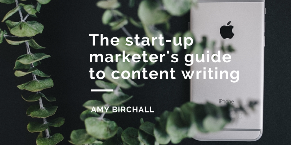 the start up marketer's guide to creating killer content