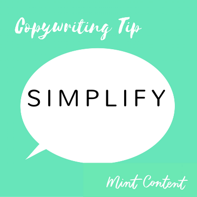 copywriting tip simplify