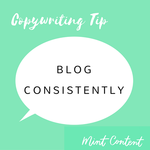 blogging tip - blog consistently