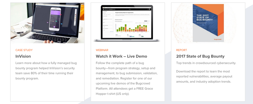 Bugcrowd content marketing