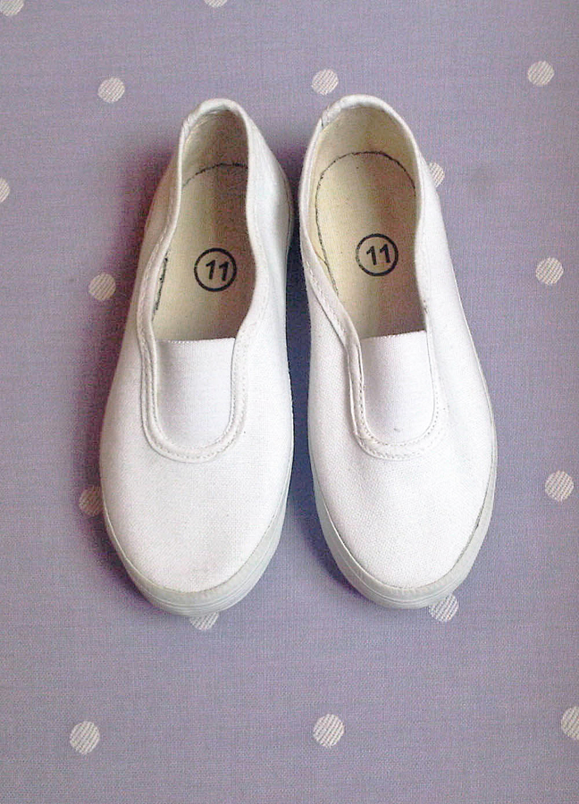 White Plimsolls - Shop Online for our