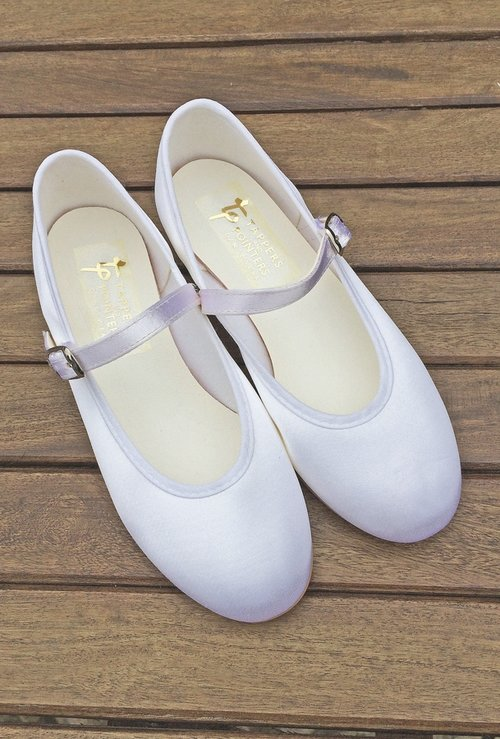 e02a9395a363 Little Bevan Holly heeled flowergirl shoes