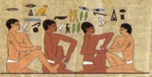 Reproduction d'une partie du tombeau d'Ankhamahor