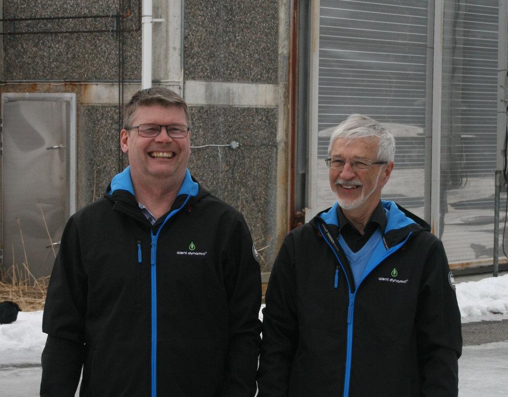 Von links: Thomas Landström und Eric Björkman, Alent Dynamic AB