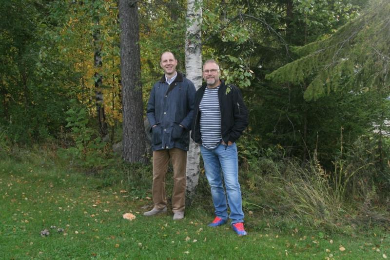 Alents nya kollegor, Martin Haller (t.v.) och Hans Hannlöv (t.h.)