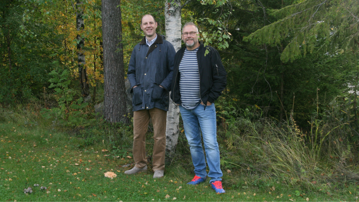 Our new colleagues, Martin Haller (to the left) and Hans Hannlöv (to the right).