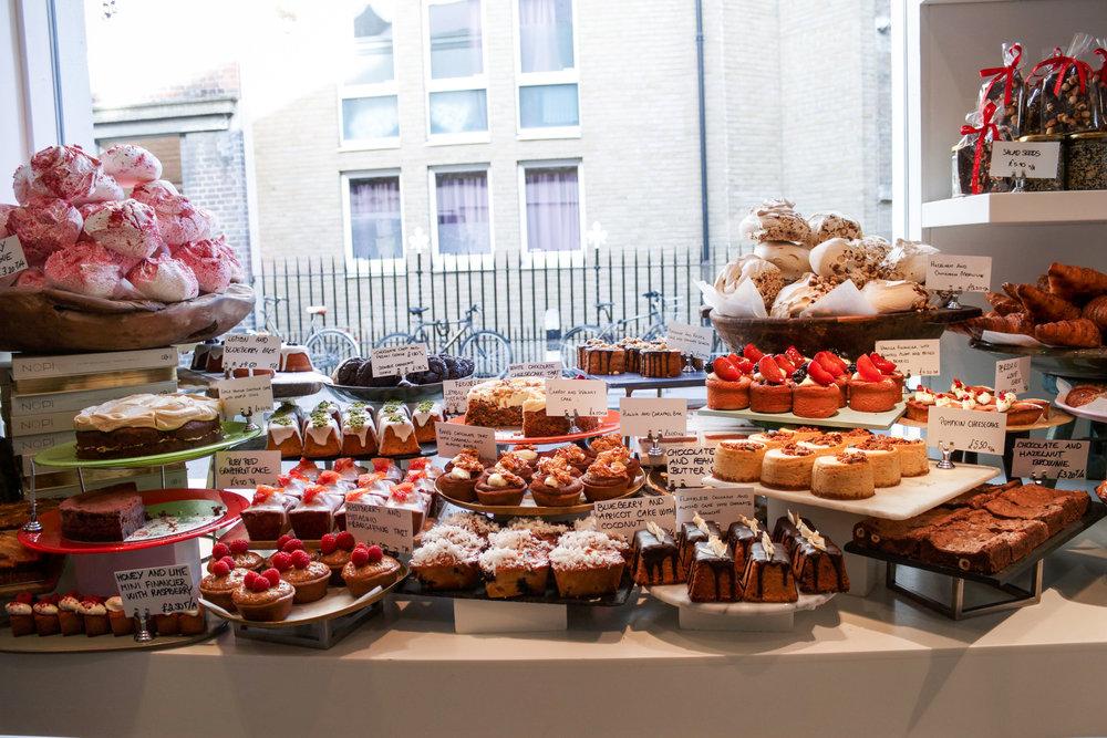 The dessert spread at Ottolenghi Spitalfields