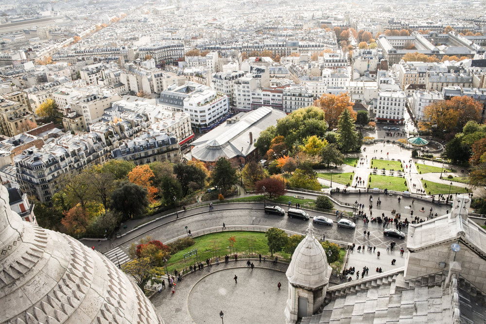 Views at the top of Sacre Couer
