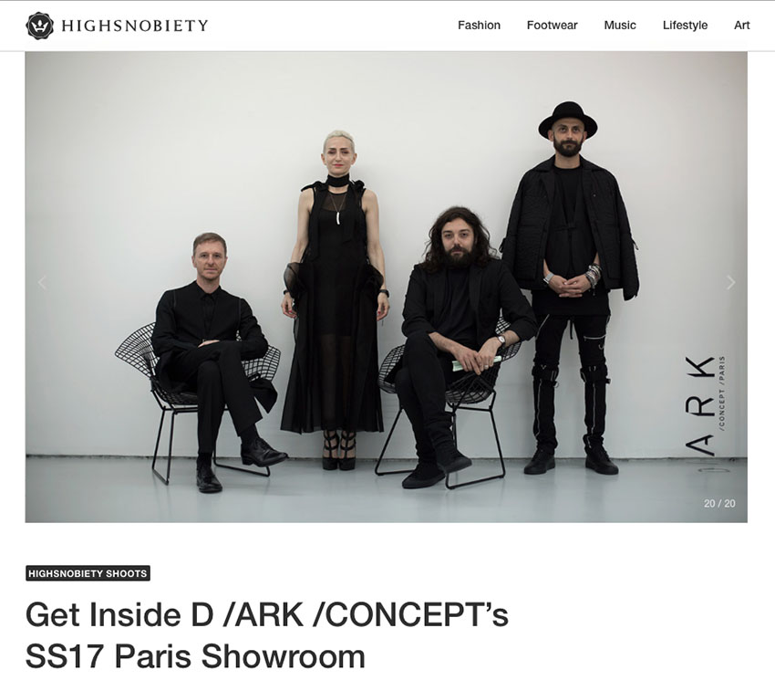 Highsnobiety D /ARK /CONCEPT Paris Showroom
