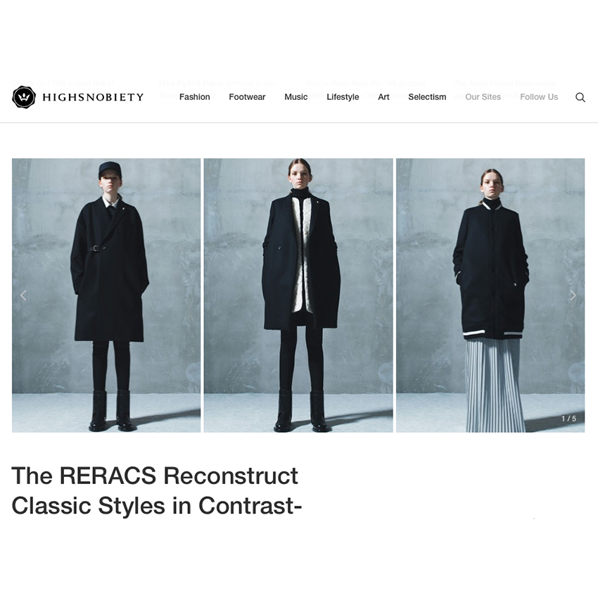 Highsnobiety | The RERACS Autumn-Winter 2016 available in stores