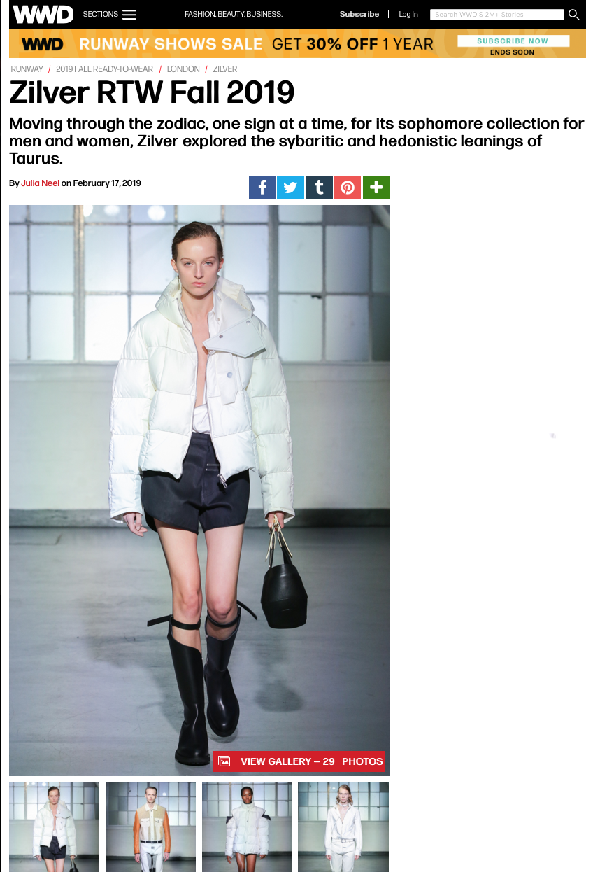 Read on WWD