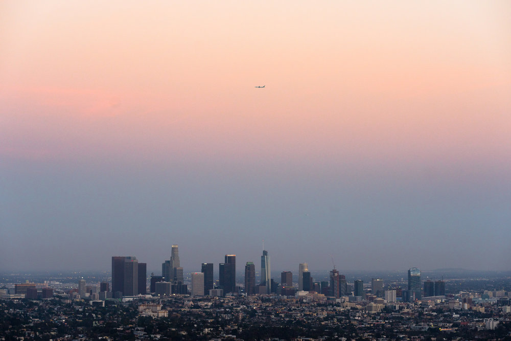 LA skyline from Griffith Park Observatory