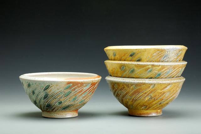 Joy Tanner - Bakersville, NC.  Soda fired porcelain & stoneware.