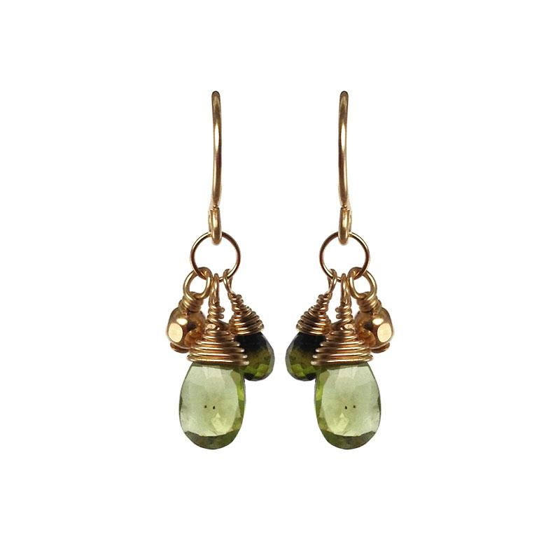 Sara Danielle - Marylhurst, CT.  Delicate earrings & necklaces of 14k gold-fill with semi-precious stones.