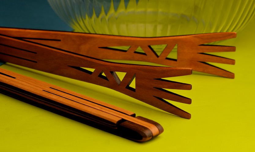 Moonspoon - Kempton, PA.  Cherry wood kitchen utensils with decorative cut-outs.