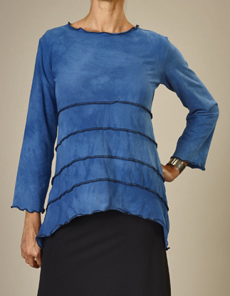 Jude Stuecker - Asheville, NC.  Hand-dyed, stamped, & sewn dresses, skirts, tunics, & tops for women.