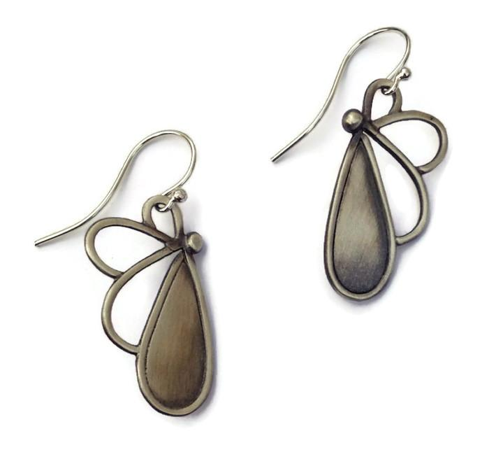 Julia Britell - Pittsfield, MA.  Necklaces & earrings of hammered sterling silver & semi-precious stones.