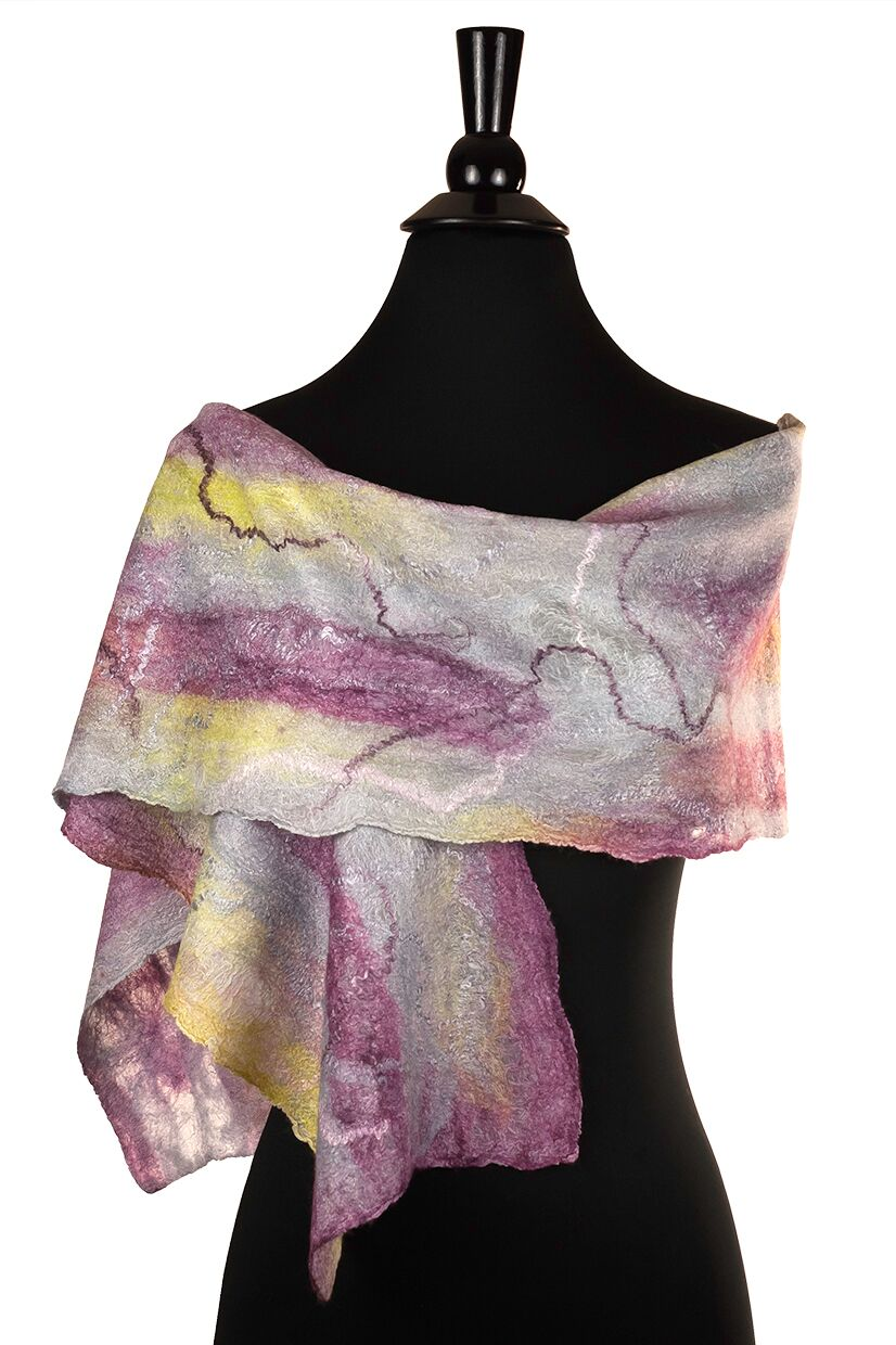 Sherri O Designs - Silver Spring, MD.  Fine quality scarves of hand-felted wool & silk inspired by paintings & nature.