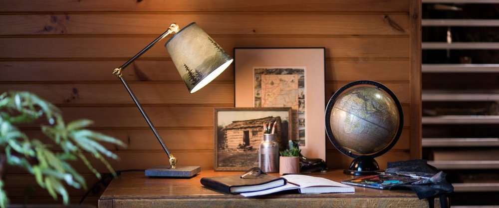 Ugone & Thomas - Easthampton, MA.  Handmade lighting & lazy susans using high-quality prints of original paintings.